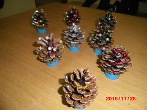 クリスマス飾り作り&今日のおやつ
